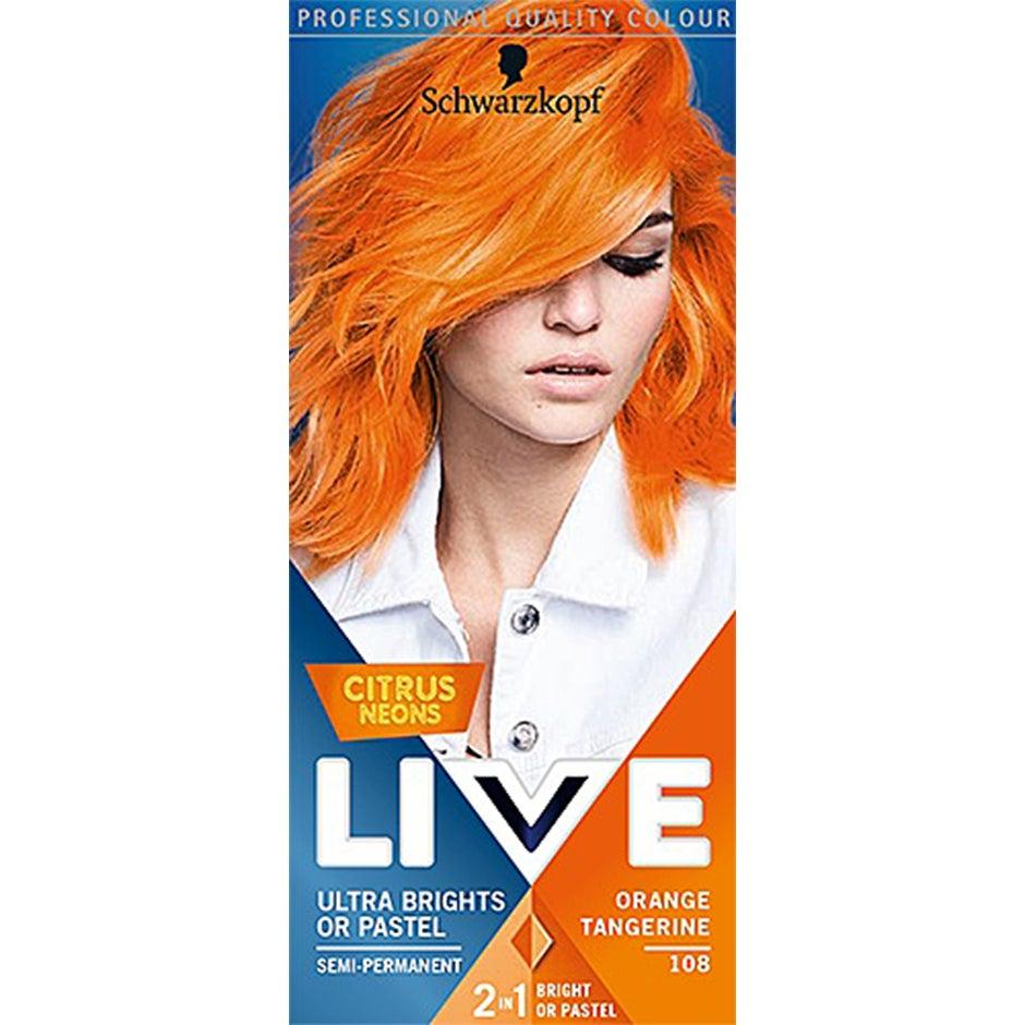 orange hårfarve